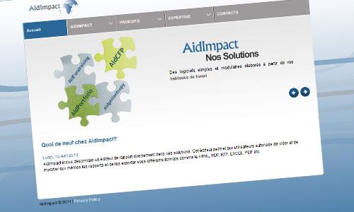 AIDIMPACT  // 2013 // WEB DESIGN