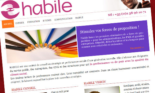 HABILE // 2013 // DESIGN GRAPHIQUE // WEBDESIGN