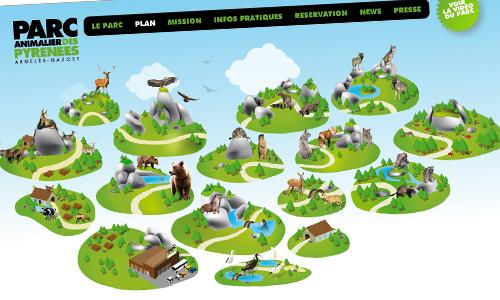 PARC ANIMALIER des PYRÉNÉES // 2010 // WEBDESIGN & FLASH