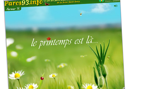PARCS ET JARDINS DU 93 // 2006 // WEBDESIGN // FLASH