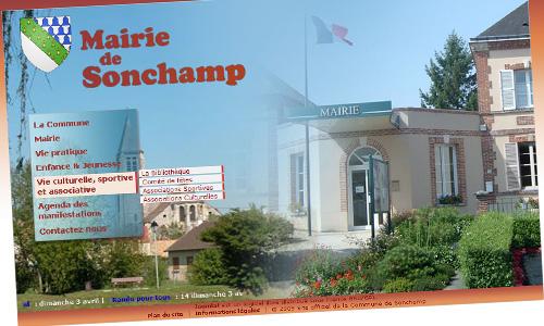 MAIRIE DE SONCHAMP // 2009 // DA&WEBDESIGN // Site internet